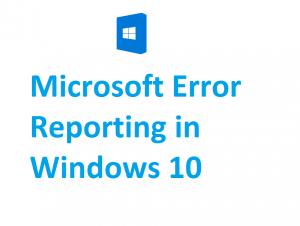 windows problem reporting
